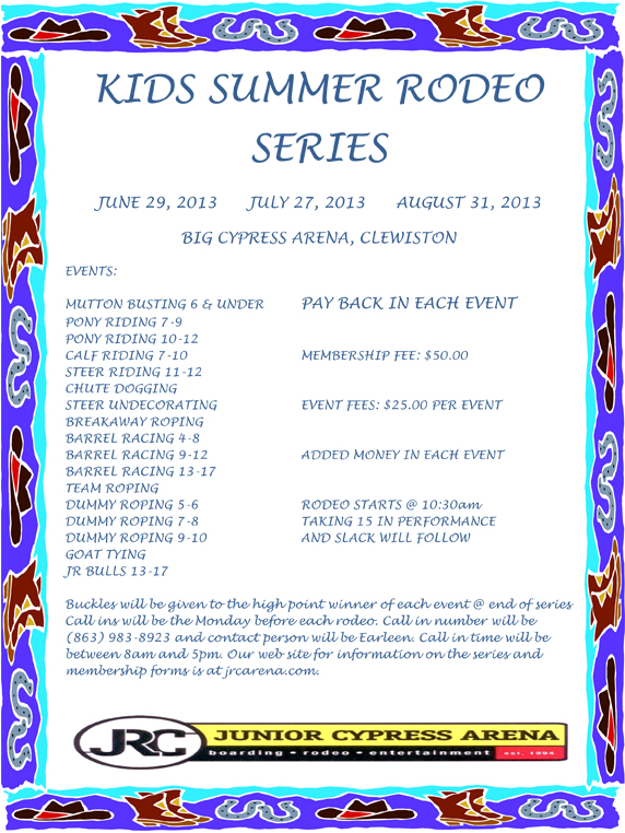 Kids Summer Rodeo Series