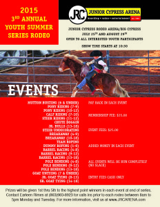 Seminole Youth Summer Rodeo 2015