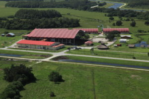 Birds eye view of the Junior Cypress Rodeo Arena