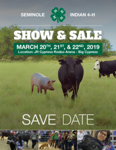 2019 Seminole Indian 4-H Show & Sale @ Junior Cypress Rodeo Arena & Entertainment Complex